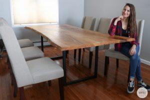 DIY Live Edge Dining Table
